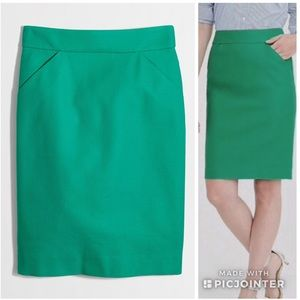 J Crew Factory Pencil Skirt In Double Serge Cotton
